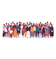 diverse multiracial and multicultural group vector image vector image