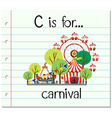 Flashcard letter C is for carnival