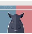 Flat postcard with Tapir vector image vector image