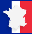 france map on flag background vector image vector image