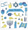 Happy Hanukkah set Vintage for vector image