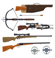 hunting equipment and gun vector image vector image