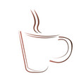 isolated abstract coffee mug logo vector image vector image