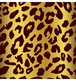 Leopard skin print pattern Seamless animal fur vector image vector image