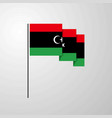 libya waving flag creative background vector image vector image