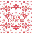Merry pattern in square shapein red vector image vector image