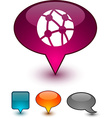 Network speech comic icons vector image vector image