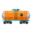 oil rail tank vector image