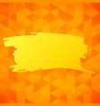 orange triangles backdrop vector image vector image