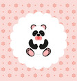 panda baby flat vector image vector image