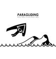 paragliding design vector image vector image