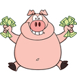 Pig cartoon vector image vector image