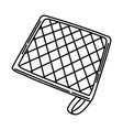 pot holder icon doodle hand drawn or outline icon vector image