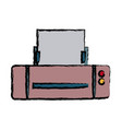 printer paper mobile application multimedia device vector image vector image