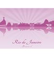 Rio de Janeiro skyline in purple radiant orchid vector image vector image