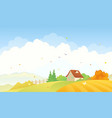 rural autumn scene vector image vector image