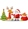 Santa Claus and Reindeer with a bag of Christmas vector image vector image