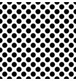 seamless black polka dot pattern on white vector image vector image