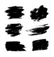 set black grunge brushes vector image