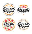 Set of pizza hand written lettering logo label vector image vector image