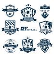 set soccer football logos emblems and badges vector image vector image