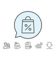 shopping bag line icon supermarket buying sign vector image