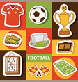 soccer soccerball football pitch and vector image