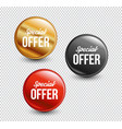 special offer circle banners vector image vector image