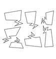 speech bubbles set cartoon comic book style vector image vector image