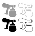 sprayer paint icon outline set grey black color vector image vector image