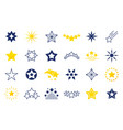 star icons premium black and outline symbols vector image vector image
