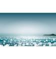 Summer seascape blur bokeh vector image