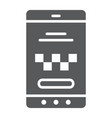 taxi mobile app glyph icon taxi and service vector image
