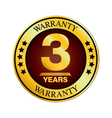 Three Year Warranty Design isolated on white vector image vector image