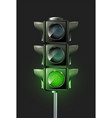 traffic lamp design vector image vector image