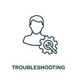 troubleshooting outline icon thin line concept vector image vector image