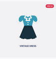 two color vintage dress icon from woman clothing vector image vector image