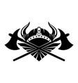 viking helmet with horns vector image