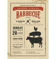 Vintage engagement barbecue invitation card vector image