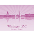 Washington DC skyline in purple radiant orchid vector image vector image