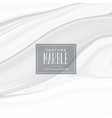 white marble texture effect background vector image