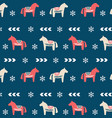 winter folk art seamless pattern in scandinavian vector image vector image