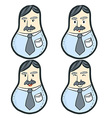 Business Man Body vector image