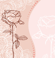 Greeting card with rose vector image
