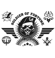 Special forces emblem with skull vector image