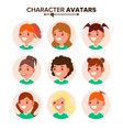 girl character avatar set woman face vector image