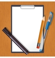Tablet and drawing tools vector image