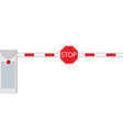 Closed barrier vector image
