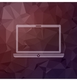 Modern laptop in flat style icon vector image