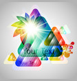 3d colorful triangles vector image vector image